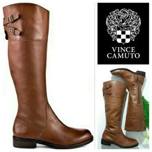 "VINCE CAMUTO ""KEATON"" Riding Boots ~ Brown"